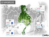 2018年06月20日の兵庫県の実況天気