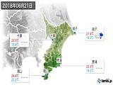 2018年06月21日の千葉県の実況天気