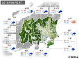 2018年06月23日の関東・甲信地方の実況天気