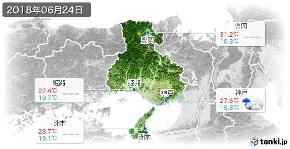 兵庫県(2018年06月24日の天気