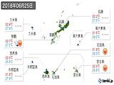2018年06月25日の沖縄県の実況天気