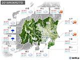 2018年06月27日の関東・甲信地方の実況天気
