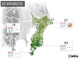 2018年06月27日の千葉県の実況天気
