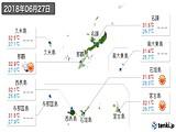 2018年06月27日の沖縄県の実況天気
