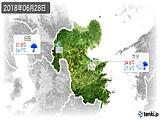 2018年06月28日の大分県の実況天気