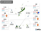 2018年06月28日の沖縄県の実況天気