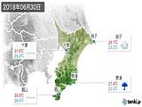 2018年06月30日の千葉県の実況天気