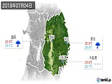 2018年07月04日の岩手県の実況天気