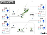 2018年07月05日の沖縄県の実況天気