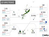 2018年07月06日の沖縄県の実況天気