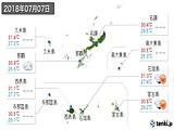 2018年07月07日の沖縄県の実況天気