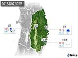 2018年07月07日の岩手県の実況天気