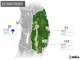 2018年07月08日の岩手県の実況天気