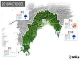 2018年07月09日の高知県の実況天気