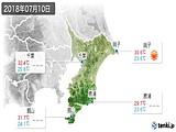 2018年07月10日の千葉県の実況天気