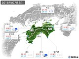 2018年07月12日の四国地方の実況天気