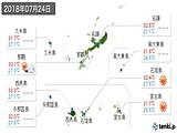 2018年07月24日の沖縄県の実況天気