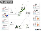 2018年07月26日の沖縄県の実況天気