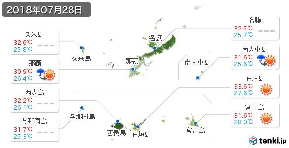 沖縄県(2018年07月28日の天気
