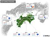 2018年07月29日の四国地方の実況天気