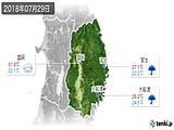 2018年07月29日の岩手県の実況天気