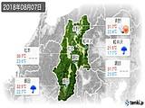 2018年08月07日の長野県の実況天気