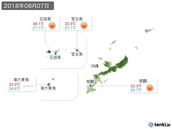 沖縄地方(2018年08月07日の天気