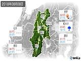 2018年08月08日の長野県の実況天気