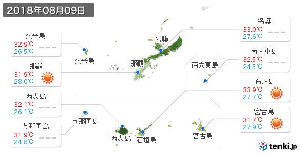 沖縄県(2018年08月09日の天気