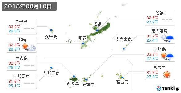 沖縄県(2018年08月10日の天気