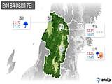 2018年08月17日の山形県の実況天気