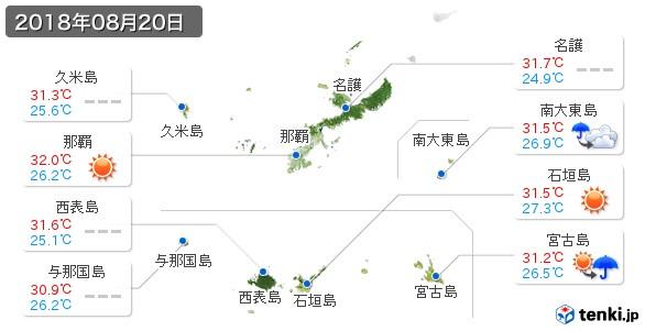 沖縄県(2018年08月20日の天気