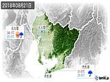2018年08月21日の愛知県の実況天気