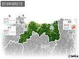 2018年08月21日の鳥取県の実況天気