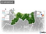 2018年08月24日の鳥取県の実況天気