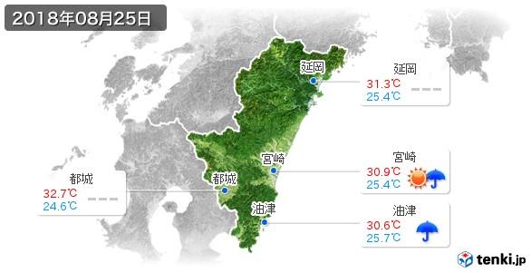 宮崎県(2018年08月25日の天気