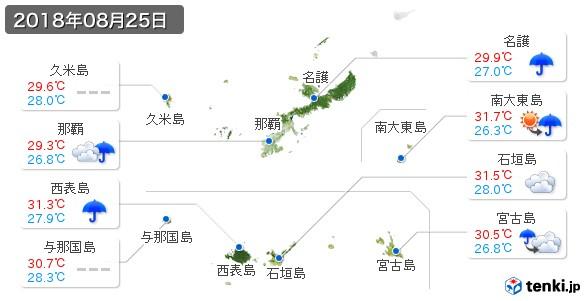 沖縄県(2018年08月25日の天気