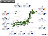 実況天気(2018年09月01日)