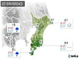 2018年09月04日の千葉県の実況天気