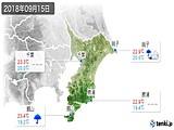 2018年09月15日の千葉県の実況天気