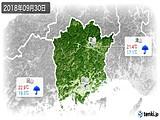 2018年09月30日の岡山県の実況天気