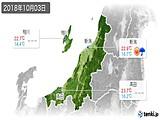 2018年10月03日の新潟県の実況天気