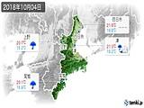 2018年10月04日の三重県の実況天気