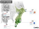 2018年10月06日の千葉県の実況天気