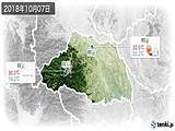2018年10月07日の埼玉県の実況天気
