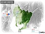 2018年10月07日の愛知県の実況天気