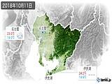 2018年10月11日の愛知県の実況天気