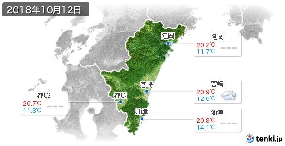 宮崎県(2018年10月12日の天気