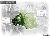 2018年10月17日の埼玉県の実況天気