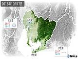 2018年10月17日の愛知県の実況天気